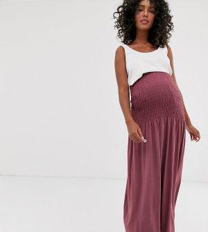 Юбка макси с присборенным поясом ASOS DESIGN Maternity-Красный Maternity