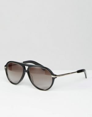 Черные солнцезащитные очки-авиаторы Karl Largerfeld K by Lagerfeld. Цвет: черный