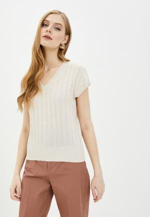 Пуловер Marks & Spencer. Цвет: бежевый