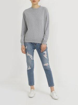 Рваные джинсы Blugirl. Цвет: goluboy