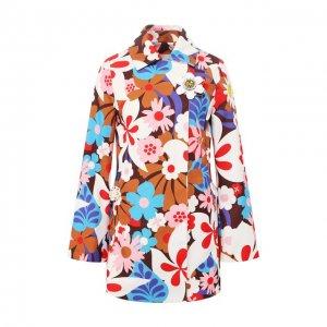Пальто 0 Moncler Richard Quinn Genius. Цвет: разноцветный