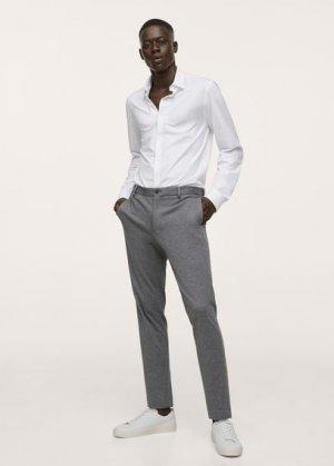 Костюмная рубашка slim fit из хлопка-стретч - Fabre Mango. Цвет: белый