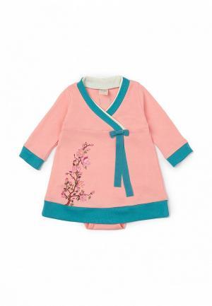Платье Ёмаё. Цвет: розовый