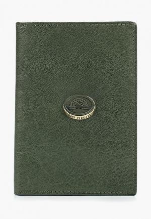 Обложка для паспорта Tony Perotti. Цвет: зеленый