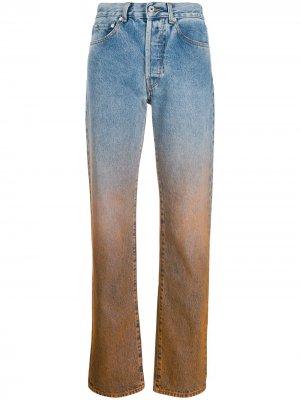 Прямые джинсы с эффектом деграде Off-White. Цвет: синий
