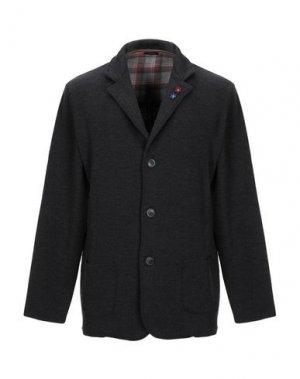 Пиджак NE PAS. Цвет: стальной серый