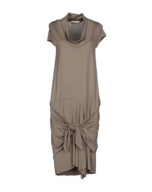 Платье до колена LA FABRIQUE. Цвет: серый