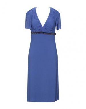Платье длиной 3/4 CARLO PIGNATELLI. Цвет: синий