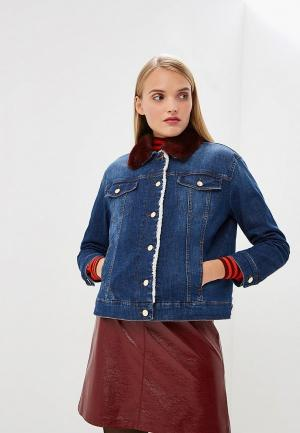 Куртка джинсовая iBlues. Цвет: синий