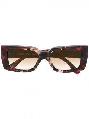 Солнцезащитные очки с мраморным эффектом Cutler & Gross. Цвет: красный