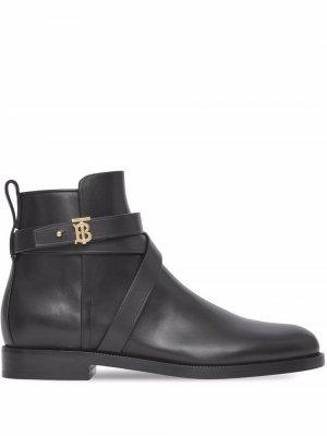 Ботинки с монограммой Burberry. Цвет: черный