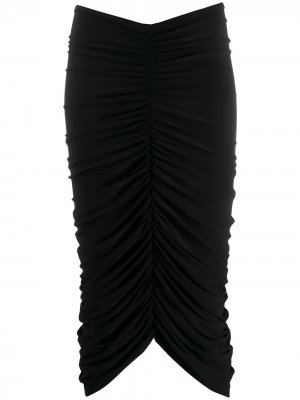Юбка со сборками Norma Kamali. Цвет: черный