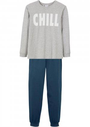 Пижама для мальчика (2 изд.) bonprix. Цвет: серый