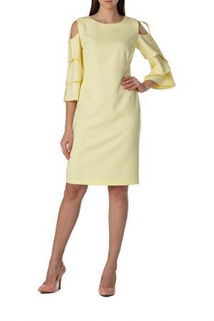 Платье Adzhedo. Цвет: бледно-желтый