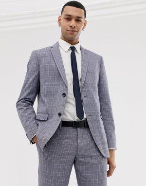 Узкий серый пиджак в клетку (pop glenn) Esprit