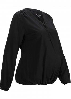 Блузка с запахом для беременных bonprix. Цвет: черный