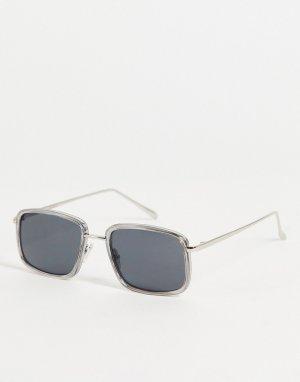 Квадратные солнцезащитные очки с серой оправой в стиле унисекс Aldo-Серый A.Kjaerbede