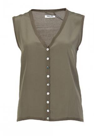 Блуза MAX & MOI. Цвет: зеленый
