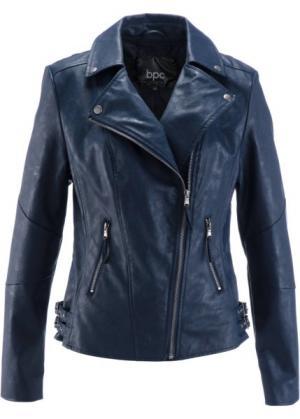 Куртка-косуха из искусственной кожи (бордово-коричневый) bonprix. Цвет: бордово-коричневый