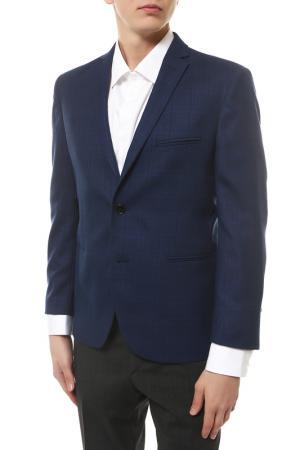Пиджак mishelin. Цвет: синий, клетка