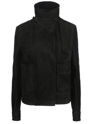 Кожаная куртка GUCCI. Цвет: черный