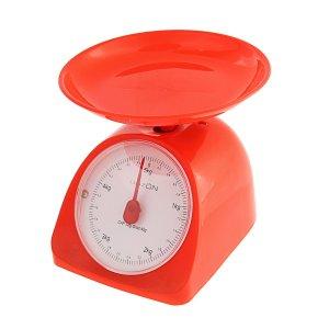 Весы кухонные luazon lvkm-502, механические, до 5 кг, чаша 200 мл, красные Home