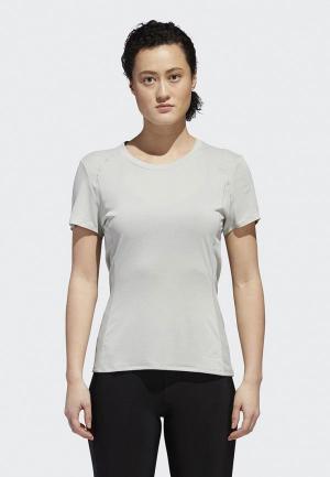 Футболка adidas FR SN SS TEE W. Цвет: серый