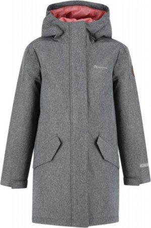 Куртка утепленная для девочек , размер 134 Outventure. Цвет: серый