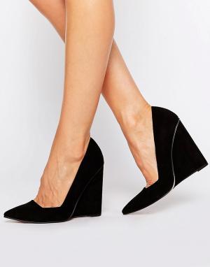 Танкетки с заостренным носком ASOS PULSE DESIGN. Цвет: черный