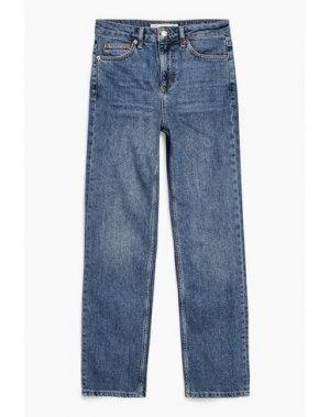 Джинсовые брюки-капри TOPSHOP. Цвет: синий