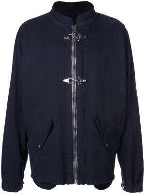Куртка-бомбер с двойной застежкой Rta. Цвет: синий