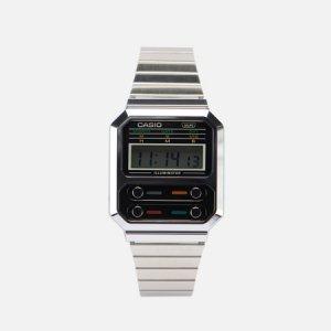 Наручные часы Vintage A100WE-1AEF CASIO. Цвет: серебряный