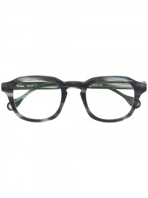 Солнцезащитные очки Minimal в квадратной оправе Etudes. Цвет: зеленый