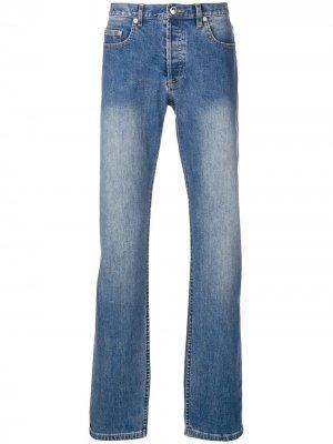 Расклешенные джинсы кроя слим с выцветшим эффектом A.P.C.. Цвет: синий