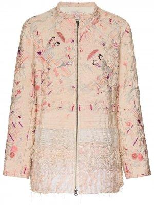 Декорированная куртка Samia By Walid. Цвет: розовый