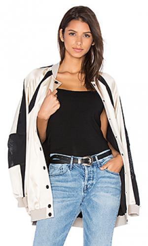 Свободная куртка-бомбер KENDALL + KYLIE. Цвет: ivory