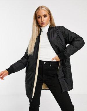 Двусторонняя стеганая утепленная куртка черного цвета -Черный Calvin Klein Jeans