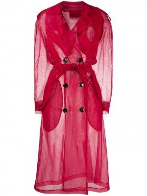 Прозрачное пальто No Coat Viktor & Rolf. Цвет: красный