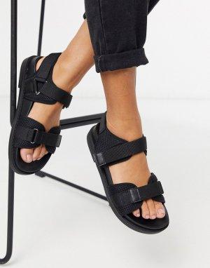 Черные спортивные сандалии -Черный Monki