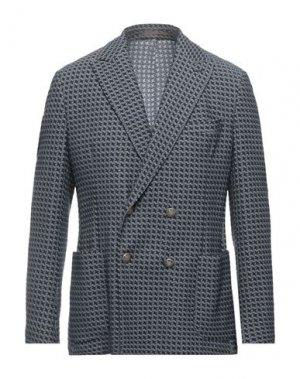 Пиджак ELEVENTY. Цвет: темно-синий