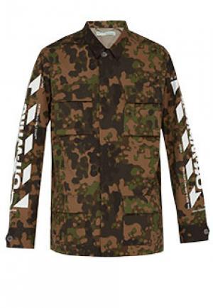 Куртка OFF-WHITE. Цвет: зеленый