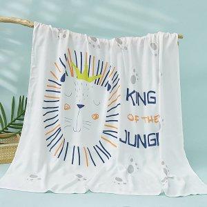 Детское одеяло с мультипликационным узором SHEIN. Цвет: белый