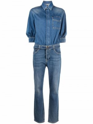 Джинсовый комбинезон с карманами Pinko. Цвет: синий