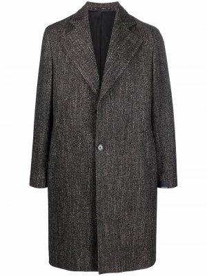 Single-breasted wool-blend coat Lardini. Цвет: черный