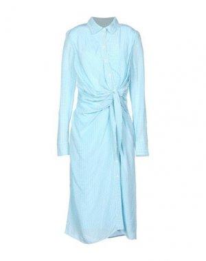 Платье длиной 3/4 ALTUZARRA. Цвет: небесно-голубой