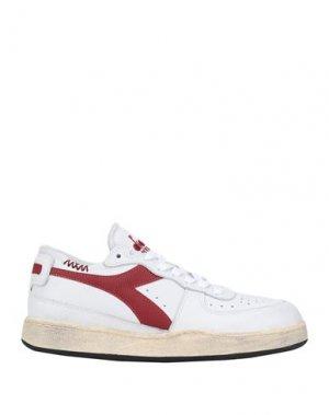 Кеды и кроссовки DIADORA HERITAGE. Цвет: белый