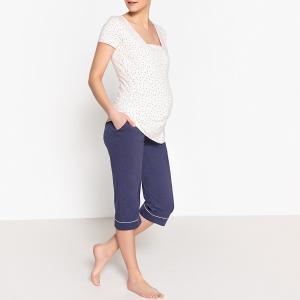 Пижама для периода грудного вскармливания LA REDOUTE MATERNITE. Цвет: темно-синий/розовый