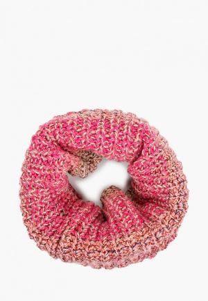 Снуд Buff Knitted & Fleece Neckwarmer Olya. Цвет: розовый