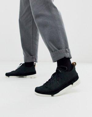 Черные нубуковые кроссовки trigenic flex-Черный Clarks Originals