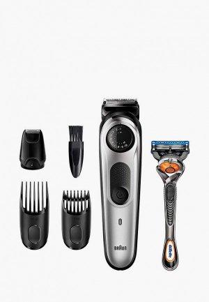 Набор для бритья Braun BT5265 + Бритва Gillette. Цвет: серый